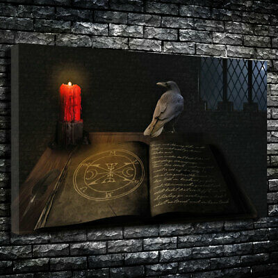 """Book Of Shadows"" The Occult Printed Canvas Picture Multiple Sizes 30mm Deep"