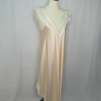 5f565415a9 VTG Christian Dior Pink Lace Night Gown Lingerie Women s M Medium Sleepwear