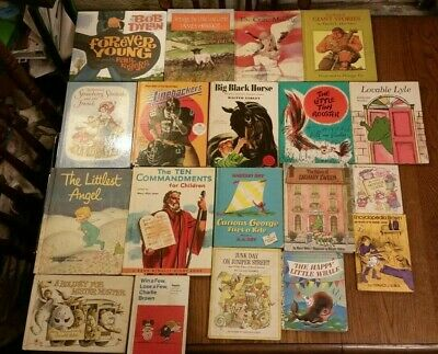Mixed lot of 19 vintage hardcover childrens books
