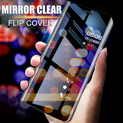 For Samsung Galaxy S10 Plus S10E Clear View Mirror Leather Flip Stand Case Cover
