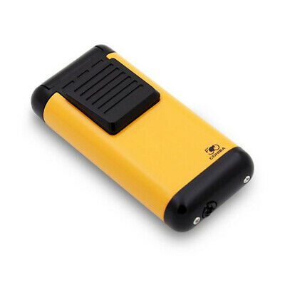 COHIBA Yellow Metal 3 Torch Jet Flame Cigar Cigarette Lighter 50th Anniversary