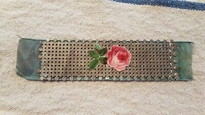 """Antique Paperpunch Bookmark """"pink rose"""""""