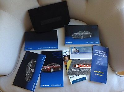 2013 Honda Accord Owners Manual Kit Complete With Black Case