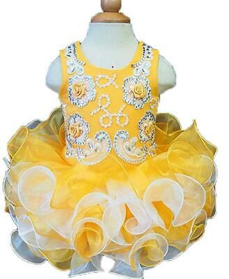 green Infant//toddler//baby//children beading Pageant Dress086-5 with hairbow