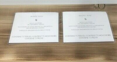 New! Lot of 2 Mary Kay Beauty Blotters Oil-Absorbing Tissues 75-150 Total
