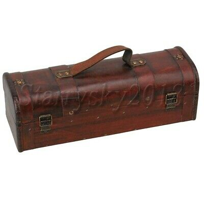 Retro Wooden Vintage Wine Storage Box Bottle Wedding Groomsman Bridesmaid
