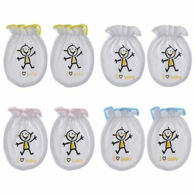 Baby Gloves Anti Scratch Face Soft Cotton Blend Protective Clothing Breathable