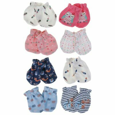 4 Pairs/Set Baby Anti Scratch Face Cute Protection Soft Glove Elastic Clothing