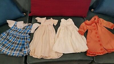 VINTAGE HAND MADE DOLL DRESSES CLOTHES Satin and Silk Made in 1950's