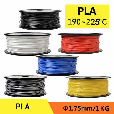 3D Printer Filament PLA 1.75mm 1kg For RepRap MakerBot Print Various Colors