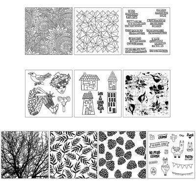 Sun Flower Silicone Clear Stamp Cling Seal DIY Scrapbook Embossing Album Decor