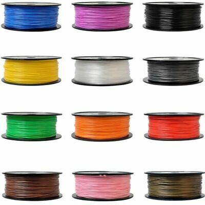 3D Printer Filament 1kg/335m 1.75mm PLA for MakerBot RepRap Multiple Color