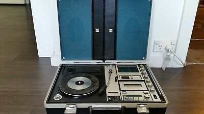 VINTAGE Sanyo G-2615N2 SUITCASE SOLID STATE MUSIC CENTER  STEREO