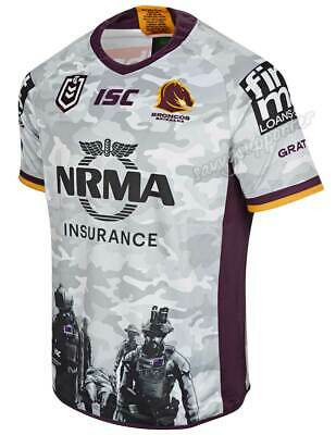 Brisbane Broncos 2019 NRL Mens Anzac Jersey Sizes S-7XL BNWT