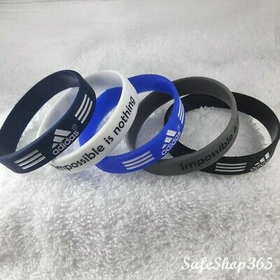 2pcs Sport Silicone wristband adidas bracelet Impossible is nothing Mens/Kids