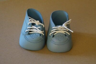 Green dyed oxford lace-up shoes (Mattel My Child & Cabbage Patch Kids dolls)