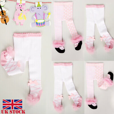 UK Toddler Kid Baby Girl Cotton Warm Tights Stockings Pantyhose Pants Trousers
