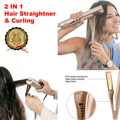 2 IN 1 Mestra Iron Pro Hair Straightener Curling Hair iron 2 IN 1 Styling toolIA
