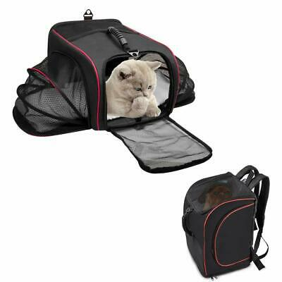 Pet Backpack Cat Carrier for Small Dogs Cats Rabbits Collapsible Soft Sided