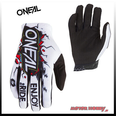 Guanto Glove Cross Enduro Quad O'neal Oneal Matrix Villain Bianco Taglia L (9)