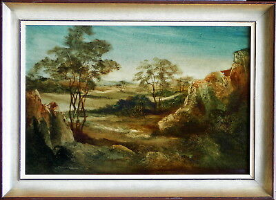 Norman Robins (1914-88) Original Oil Painting In the Glade Rural Landscape