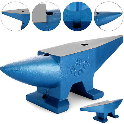 Round Horn 30KG Blacksmith Cast Steel Anvil 4 Anchor Point Powder Coated 66LBS