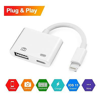 ios12 HOT Lightning to USB 3 Camera Adapter For Phone X 8 Plus 8 7 Plus 7 White