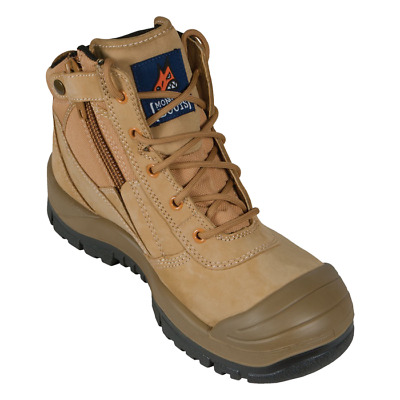 461050 Mongrel Wheat zip side safety boots bump toe NEW. Freight free in Aust.