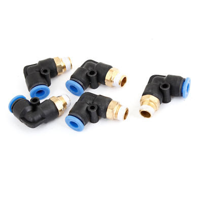 """5Pcs 1/8"""" PT Male Threaded Solenoid Valve 2 Way Joint Pneumatic Quick Fittings"""