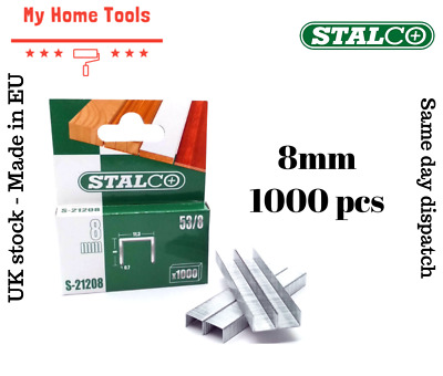 1000pc 8mm STAPLES 53A Pack Duty Gun Tacker Staple Upholstery Galvanised Craft