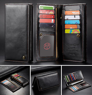 Wallet Leather Zipper Cover Card Slots Case for Samsung Galaxy S10 E S10 Plus