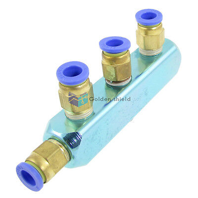8mm Pneumatic Air Hose Fitting 4Way Push in to Connect Quick Coupling