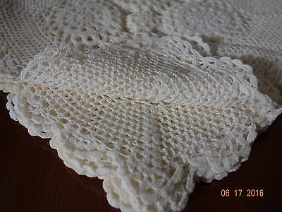 8 inches Square Hand Cotton Crochet Doily Placemats, 12 PCS in Beige