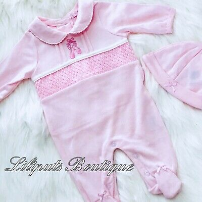 💕Baby Girl's Traditional Style Smocked Babygrow Set (Newborn-3 Months)💕