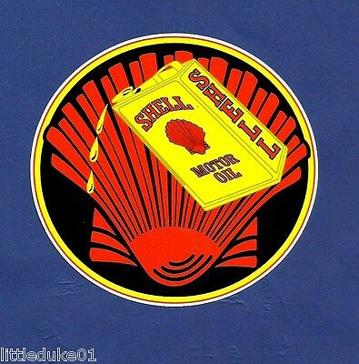 """Shell Motor Oil"" Retro Petrol Logo Garage Gas Station Promo Sticker Decal"