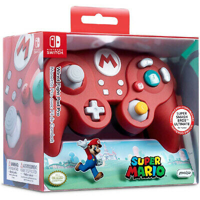 Nintendo Switch PDP Mario Wired Fight Pad Pro Controller - BRAND NEW