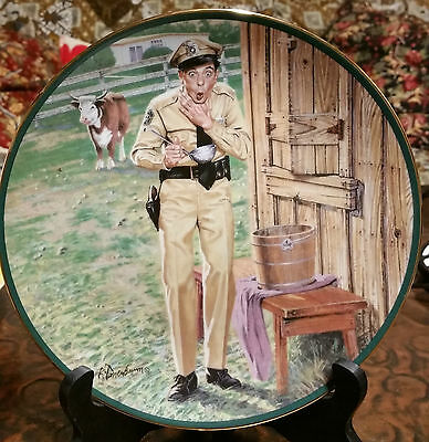 "Andy Griffith Show 1992 Signed And Numbered""a Startling Conclusion"" Plate"