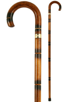 Imitation Bamboo Crook Handled Walking Stick