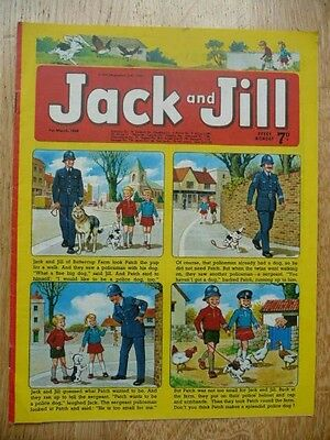 Collectible Jack and Jill Vintage Children's Comic  - 1st March, 1969