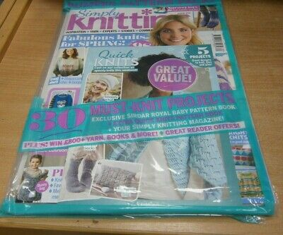 Simply Knitting magazine #183 2019 Bumper Pattern Pack, Knits for Spring & more