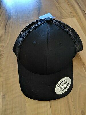 Flexfit By Yupoong Retro Trucker Cap Black New With Tags
