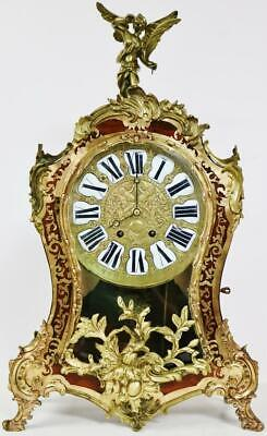 Rare Antique French Large Bronze Ormolu Boulle Bracket Clock Striking On 2 Gongs