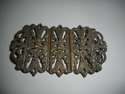 Pretty c1890 Brass/ Silver Plate Nurses Buckle Antique with Pierced Decoration