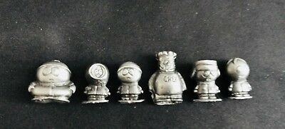 6 Pewter South Park Kenny Chef Eric Stan Butters Stitch Kyle Silver Figurines