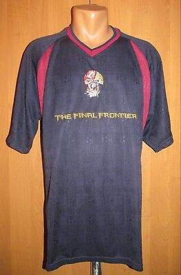 Iron Maiden The Final Frontier 2010 Tour Football Shirt Soccer Jersey Vtg  Rare L 246f845ed