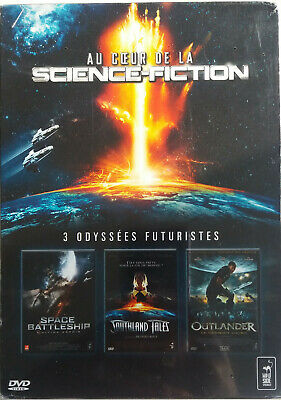 COFFRET 3 DVD ODYSSEES FUTURISTES : OUTLANDER - SPACE BATTLE neuf sous blister