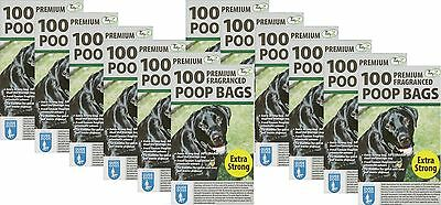 1200 Doggy Bags Scented Extra Strong Dog Cat Poo Waste Toilet Pet Bag Fragrance
