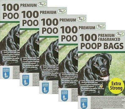 500 Doggy Bags Scented Extra Strong Dog Cat Poo Waste Toilet Pet Bag Fragranced