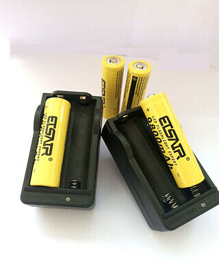 4x18650 3.7V 9800mAh Rechargeable Li-ion  Batteries For Flashlight 2PCS Charger