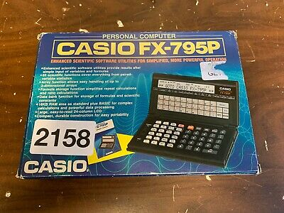 Casio FX-795P Personal Computer - Vintage & Tested! (BOXED)